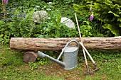 Gardening tools outdoors