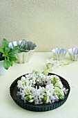Wreath of white hyacinths