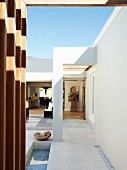 Elegant patio of contemporary house
