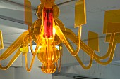 Yellow glass chandelier