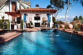 Swimming pool in front of a hotel resort at Laguna Niguel; California; USA
