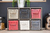 Colorful chest of drawers