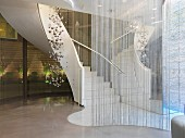 Spiral staircase in luxury hotel