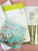 Place setting with 40th birthday card