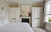 Master bedroom, Ruddy House, London, UK