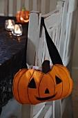 Hand-sewn Halloween pumpkin bag