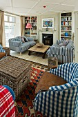 The living room at The St. Mawes Hotel (Cornwall, England)