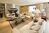 The living room in The Tide House Hotel in St. Ives (Cornwall, England)