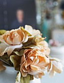 Cream silk roses