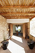 Veranda with bamboo pergola