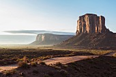 Rock formation at dawn in Monument Valley, Utah, USA