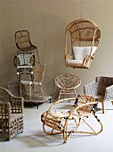 Collection of various rattan seating