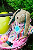 Hand-sewn Easter bunny soft toy