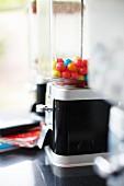 Bubblegum machine on kitchen worksurface