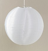 White paper lampshade