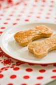 Pancakes shaped like bones