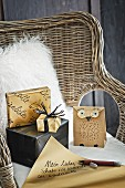 Hand-crafted Christmas gift bags and boxes