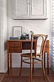 Thonet chair at delicate antique desk