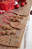 Felt gingerbread houses and gingerbread men