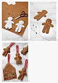 Crafting a felt gingerbread house and gingerbread men