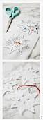 Schneeflocken aus Filz herstellen