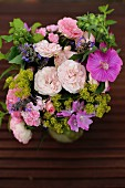 Bouquet of cottage-garden flowers