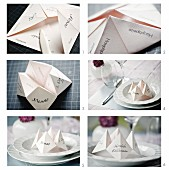 Making paper fortune teller menu cards