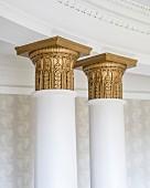 Detail of gilt column capitals