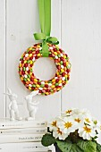 Easter wreath of sugar egs