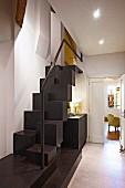 Samba stairs with handrail in hallway