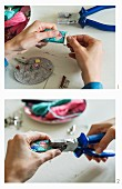 How to make embroidered key rings