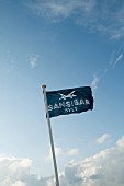 Flag of Sansibar restaurant on the island of Sylt, Germany