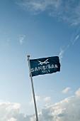 Flag of Sansibar restaurant on the island of Sylt, Germany