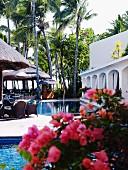 Pool eines Hotels auf Mauritius
