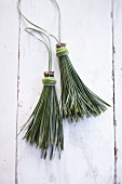 Homemade tassels made from pine needles