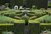 Clipped box hedges in various geometric forms