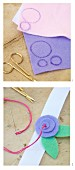 Sewing instructions for making felt flowers