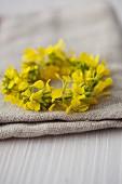 Small wreath of oilseed rape flowers