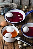 Dying Easter eggs using natural dyes