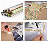 Instructions for making picture frames from newspaper or old wrapping paper