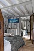 Rustic bedroom in farmhouse