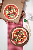 Paper pizzas