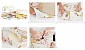 Stoffbezogene Wandkissen aus Schaumstoff selbermachen
