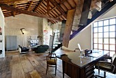 Loft apartment in converted rice mill