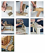 Instructions for making a wooden swing bench
