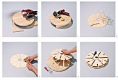 Instructions for making round wooden wine glass rack