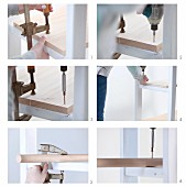 Make your own wardrobe shelf with a clothes rail