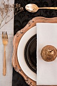 Gold Christmas place setting