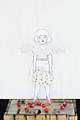 Paper doll as Christmas angle