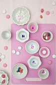 Painted porcelain bonbon dishes
